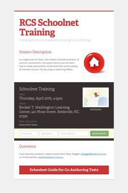 RCS Schoolnet Training