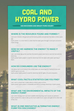 coal and hydro power