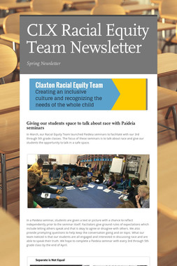 CLX Racial Equity Team Newsletter