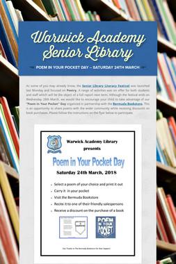 Warwick Academy Senior Library