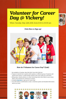 Volunteer for Career Day @ Vickery!