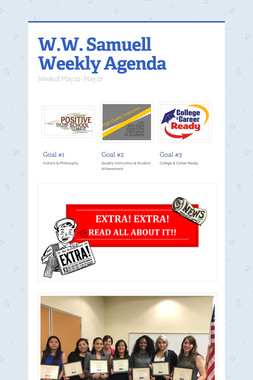 W.W. Samuell Weekly Agenda