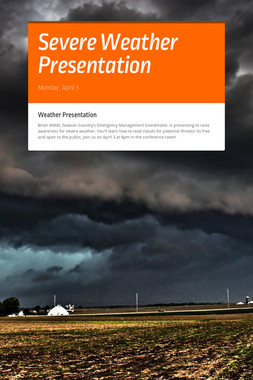Severe Weather Presentation