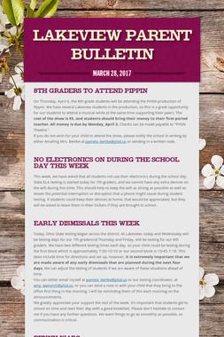 Lakeview Parent Bulletin