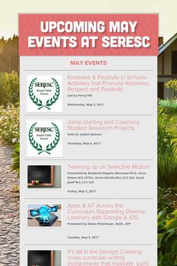 Upcoming May Events at SERESC