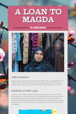 A Loan To Magda