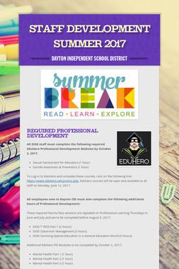 Staff Development Summer 2017