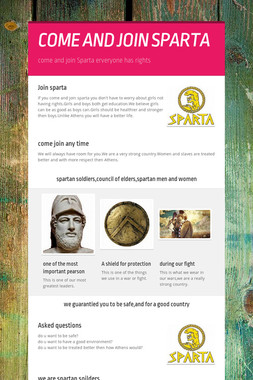 COME AND JOIN SPARTA