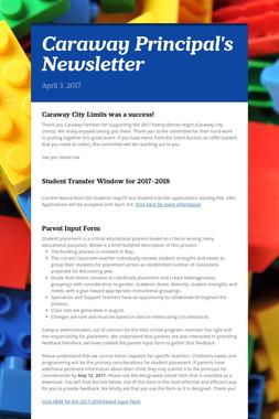 Caraway Principal's Newsletter