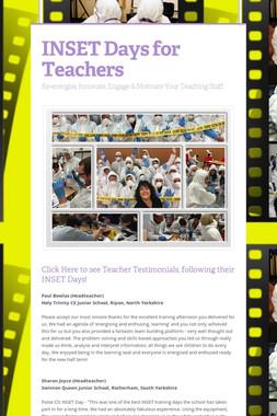 INSET Days for Teachers