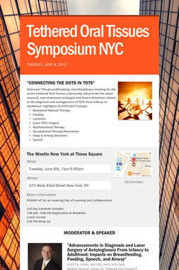 Tethered Oral Tissues Symposium NYC