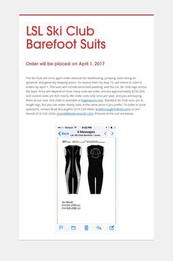 LSL Ski Club Barefoot Suits