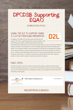 DPCDSB Supporting EQAO