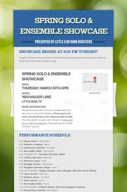 Spring Solo & Ensemble Showcase