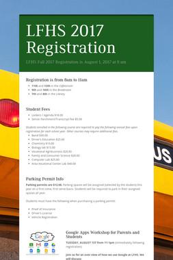 LFHS 2017 Registration