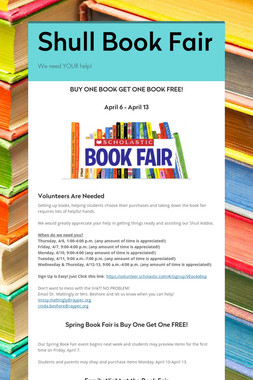 Shull Book Fair