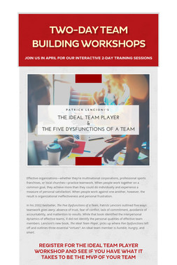 Two-Day Team Building Workshops