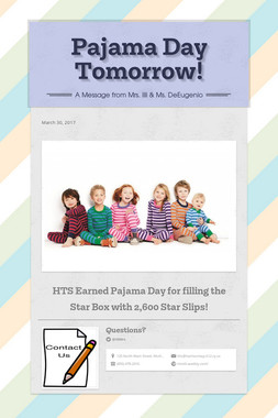 Pajama Day Tomorrow!