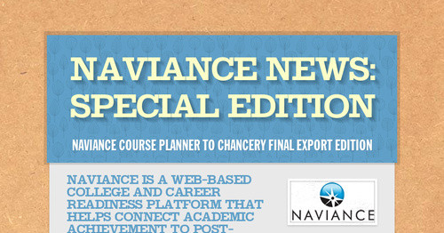 Naviance News: Special Edition | Smore Newsletters For Education