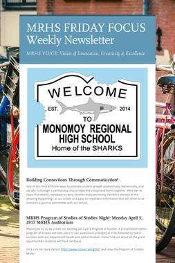 MRHS FRIDAY FOCUS Weekly Newsletter