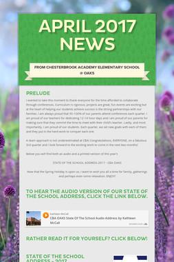 April 2017 News