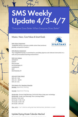 SMS Weekly Update 4/3-4/7