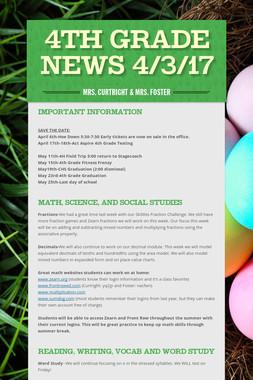 4th Grade News 4/3/17
