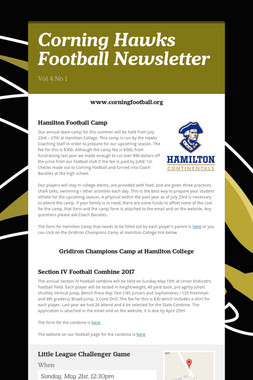 Corning Hawks Football Newsletter