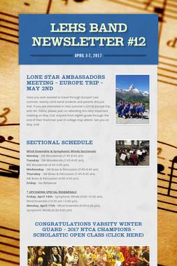 LEHS Band Newsletter #12