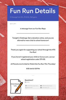 Fun Run Details