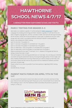 Hawthorne School News 4/7/17
