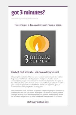 got 3 minutes?