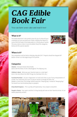 CAG Edible Book Fair