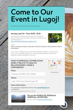 Come to Our Event in Lugoj!