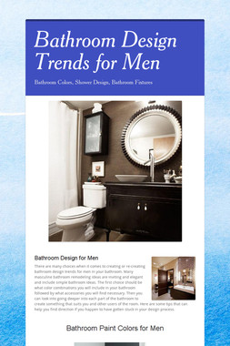 Bathroom Design Trends for Men
