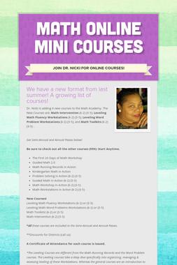 Math Online Mini Courses
