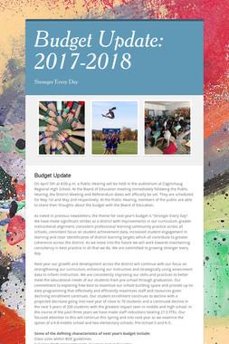 Budget Update: 2017-2018