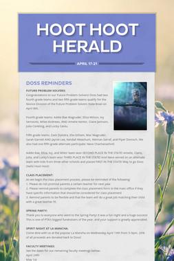 Hoot Hoot Herald
