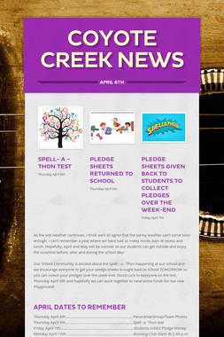 Coyote Creek News