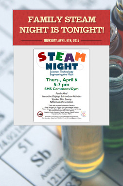 Family STEAM Night is Tonight!