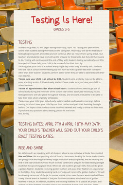Testing Is Here!