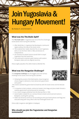 Join Yugoslavia & Hungary Movement!