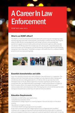A Career In Law Enforcement
