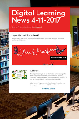 Digital Learning News 4-11-2017
