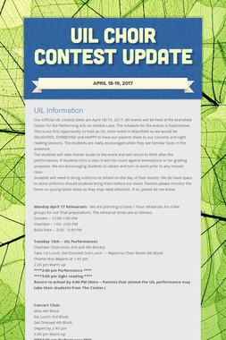 UIL Choir Contest Update