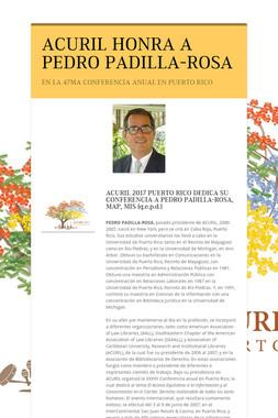 ACURIL HONRA A PEDRO PADILLA-ROSA