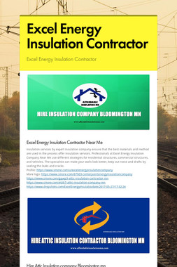 Excel Energy Insulation Contractor