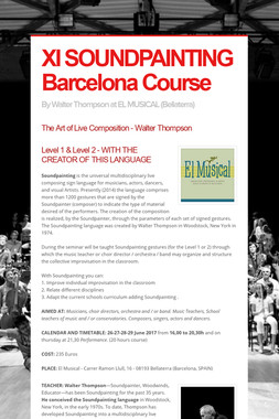 XI SOUNDPAINTING Barcelona Course