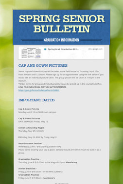 Spring Senior Bulletin