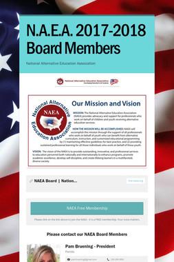 N.A.E.A. 2017-2018 Board Members